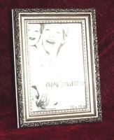 BILDERRAHMEN ANTIK Silber Schwarz m Glasscheibe 10x15 Rahmen Fotorahmen