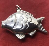 Vintage Sterling Silver Necklace 925 Pendant Fish Animal
