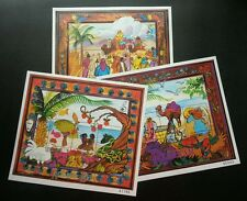 Micronesia Painting Adam & Eve 1998 Paradise Christmas Bible (sheetlet) MNH