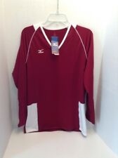 Mizuno XL Women's Volleyball Lightweight Shirt Running Athletic Burgundy White