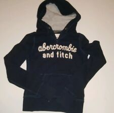 ABERCROMBIE & FITCH KIDS * A&F Girls Hoodie Pullover Jacket * Navy M
