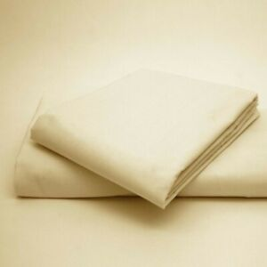 Single Double And King Fitted Sheet With Pillowcases No Flat sheet Cream