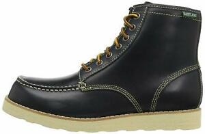 Eastland Womens lumber up Leather Round Toe Ankle Working Boots, Navy, Size 7.0