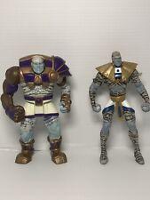"""2x MUMMIES ALIVE 5"""" Action Figures - ARMON + JA-KAL (Hasbro 1997)"""