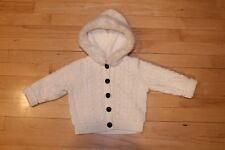 Gymboree Girls 12-18 Fur Sweater Cable Knit Cardigan Hoodie Holiday Christmas