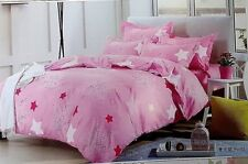 Sara  Luxurios Cashmere Cotton Blend Complete Bed Set Pink DOUBLE