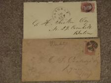 Postal History covers- Scott# 65 (2), Cork Cancels