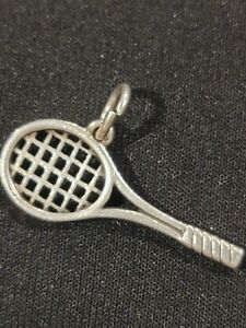 Retired James Avery Sterling Silver Tennis Racket Charm