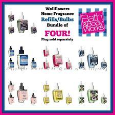 Bath Body Works Wallflowers Fragrance Refills Lot /Four (4) Bulbs Free Shipping!
