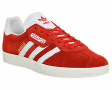 ADIDAS ORIGINALS GAZELLE SUPER MENS VINTAGE TRAINERS UK SIZE 10 BNIB RED (SAMBA)