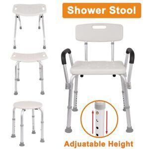 Adjustable Height Medical Shower Chair Bathtub Anti-slip Bench Bath Seat Stool