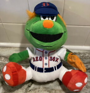 "NEW Wally the Green Monster 9.5"" Boston Red Sox Mascot Plush Toy Stuffed Animal"