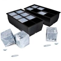 Big Jumbo Silicon Mould 8 Square Ice Cube Freezer Tray Kitchen Bar Accessory