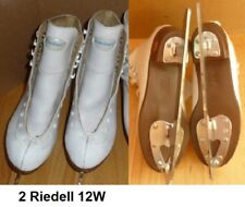Ice Figure Skates White Basic level Riedell 121 Girls Size 2