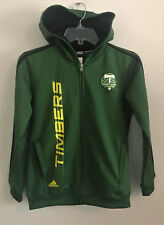 Portland Timbers MLS Adidas pullover Hoodie Youth M Medium 10/12, poly 3 stripe