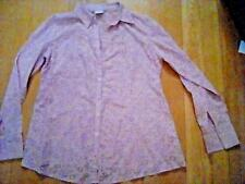 Mothercare Pretty Pink Floral Maternity Shirt Blouse Size 8