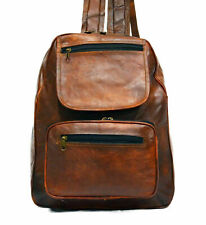 "13""  Real Genuine Leather Bag Rucksack Men's Backpack Christmas Special"