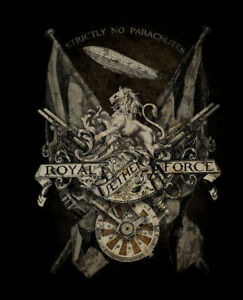 Royal Aether Force, Steampunk Gothic Alchemy Empire Small Metal/Steel Wall Sign