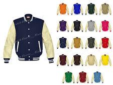 Original American Varsity Letterman College Baseball Bomber Leather Jackets CRSL