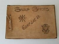 1918 EMPTY Album for Photographs Book - Leather Handmade Army Military