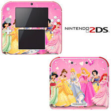 Vinyl Skin Decal Cover for Nintendo 2DS - Princess Friends Pink Jasmine Cinderal
