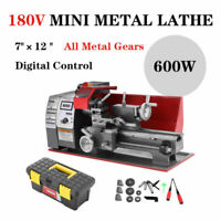 7×12'' Lathe Drehbank 600W Metalldrehmaschine Mini-Drehmaschine Metal Präzisions