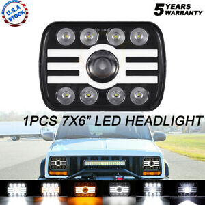 "FOR TOYOTA PICKUP TRUCK 7X6"" 6X7inch Rectangle LED HI-LO DRL BULB HEADLIGHT"