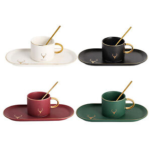 Luxury Glazed Ceramic Coffee Cup Houusehold Mug Porcelain Cappuccino Cups
