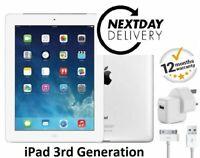 """Apple iPad 3 32GB Wi-Fi, Retina Display 9.7"""" Black 12 Month Warranty Grade A UK"""