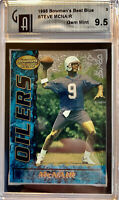 1995 Bowman's Best Blue Steve McNair #3 Gem Mint 9.5 Rookie RC Tennessee Titans