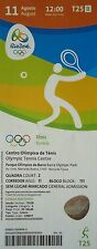 TICKET 11.8.2016 OLYMPIA RIO OLYMPIC GAMES TENNIS # t25