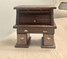 Dollhouse Furniture Scale 1:12 Handmade OOAK Walnut Roll Top Desk New