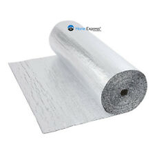 Double Foil Single Bubble Wrap Aluminum Insulation Roll 1.2m x 50m Loft Wall