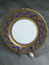 Porcellana limoges piatto William Guerin dorati oro fine Antica