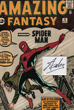 STAN LEE Signed 12x8 Photo Display SPIDERMAN Amazing Fantasy COA