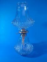 Vintage Diamond Point Austrian Crystal Hurricane Shade Oil Lamp Lamplight Farms