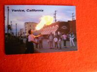'90S VENICE CALIFORNIA   FIRE BLOWER ,JEFFREY STANTON PHOTO POSTCARD