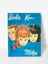VINTAGE BARBIE FASHION BOOKLET - 1962 Barbie & Ken, Midge