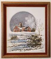 "EDUARDO OROPEZA Original Oil on Canvas ""Winter"" Signed"