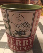 """Gibson  Christmas Cup Mug  """"Joy To The World"""" Peanuts Gang Around Christmas Tree"""