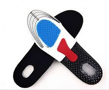 Unisex Orthotic High Arch Support Running Insert Cushion Shoe Pad Gel Insoles L