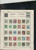 belgium stamps page ref 17343