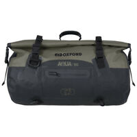Oxford Aqua T30 Black/Khaki Waterproof Motorcycle Bike Roll Bag Tail Pack OL401