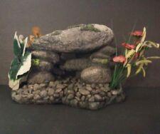 Penn PLAX Tronco Adorno de resina de arena con piedras de aire tubería; y brillante