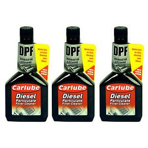 3 x Carlube Diesel Particulate Filter Cleaner DPF Regenerator Fuel Additive