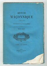 Revue Maçonnique Tome X Octobre 1847 - Améliorations de la Franc Maçonnerie