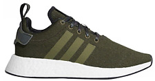Men's Adidas NMD R2 Casual Shoes Black / Olive Cargo Sz 13 B22630