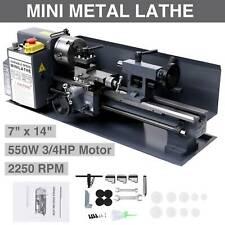 7 X 14mini Metal Lathe Machine 550w Variable Speed 2250 Rpm Dc Motor Driven