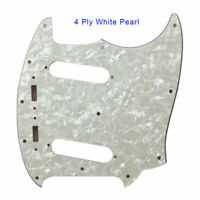 For US Fender Mustang Classic Series Style Guitar Pickguard , 4Ply White Pearl