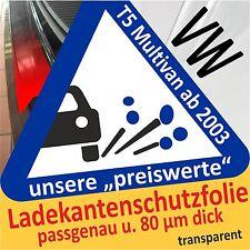 für VW T5 Multivan Ladekantenschutz Folie Lackschutzfolie Schutzfolie 80µm